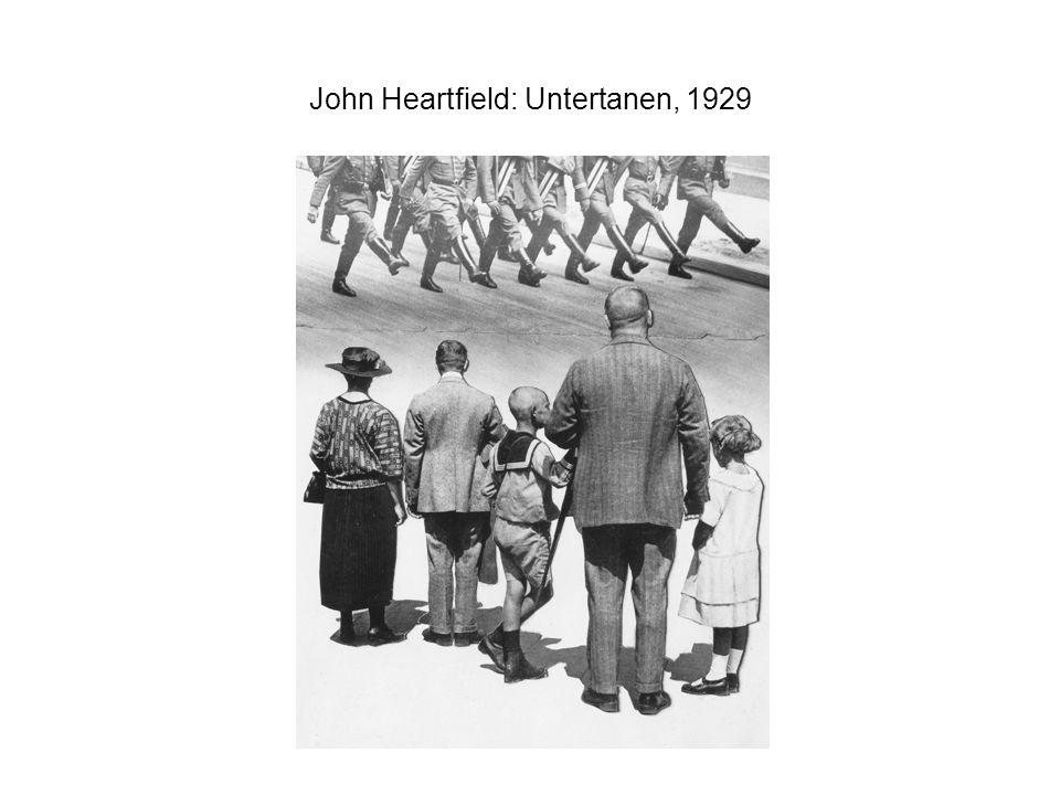 John Heartfield: Untertanen, 1929