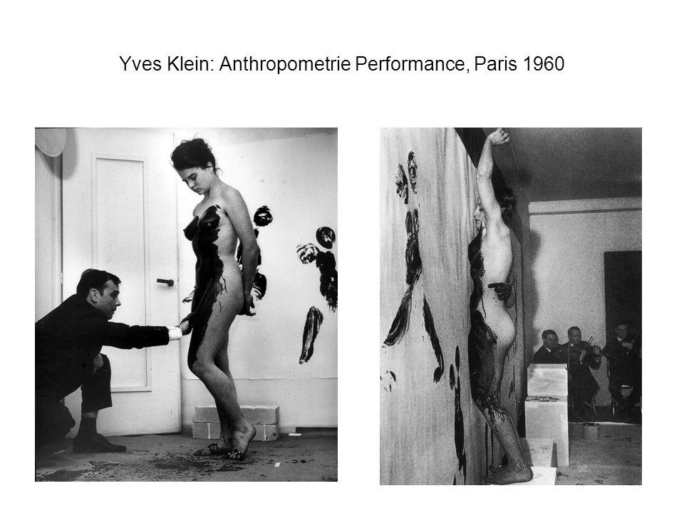 Yves Klein: Anthropometrie Performance, Paris 1960