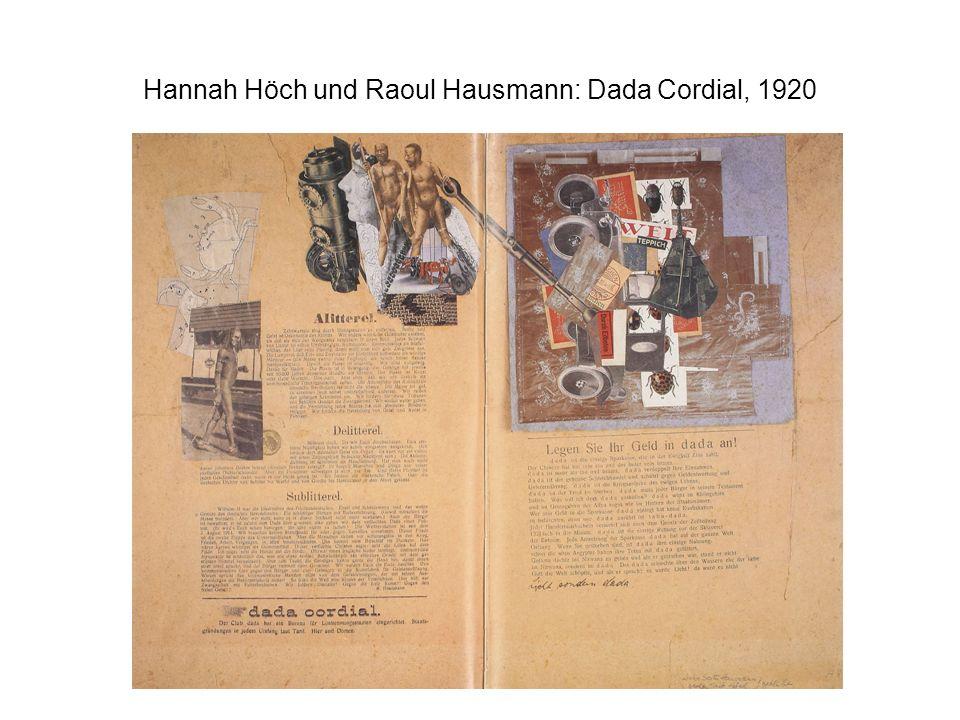 Hannah Höch und Raoul Hausmann: Dada Cordial, 1920