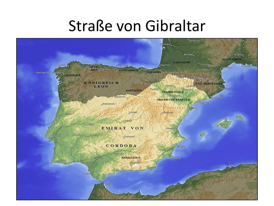 In wenigen Jahren unterwarfen die Araber fast die gesamte iberische Halbinsel.