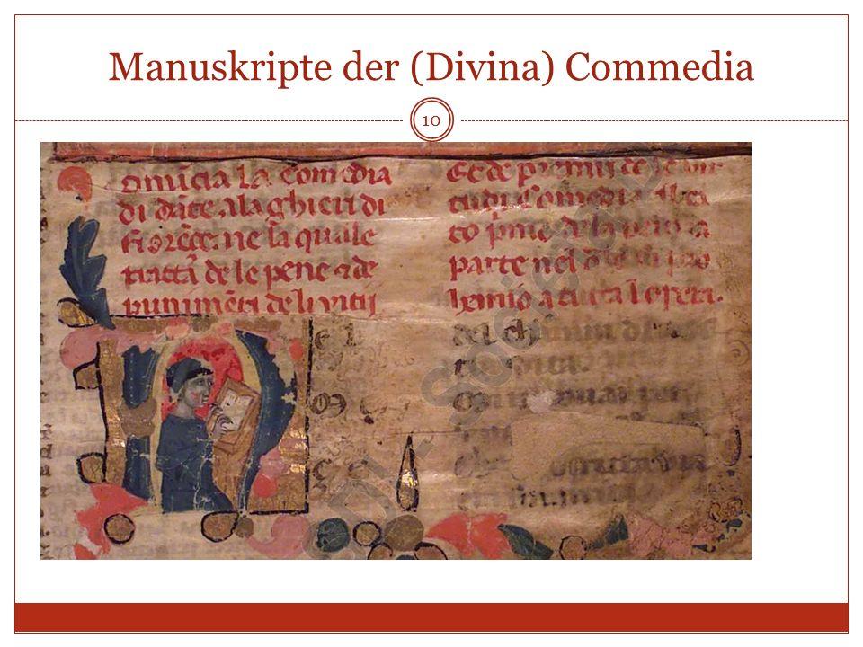 Manuskripte der (Divina) Commedia 10