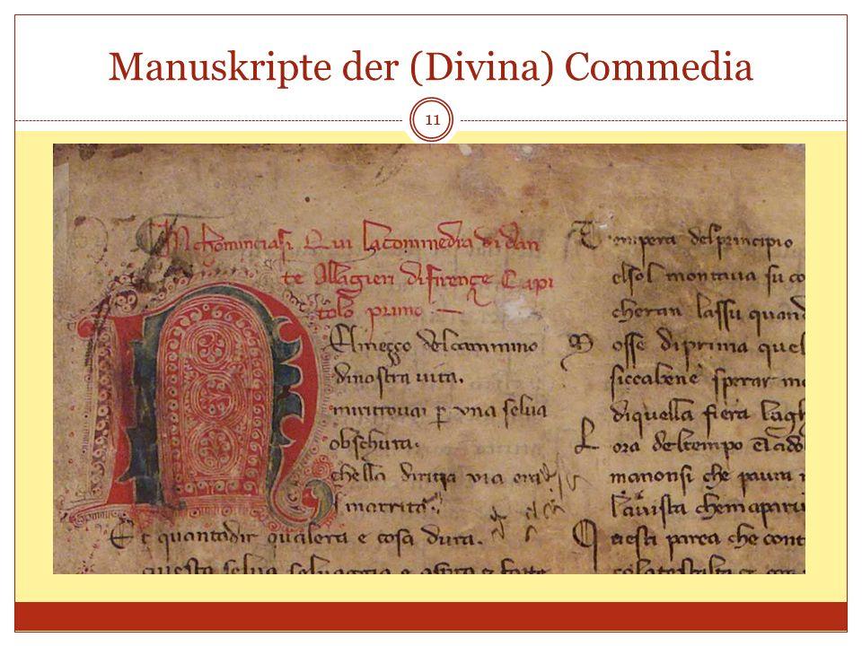 Manuskripte der (Divina) Commedia 11