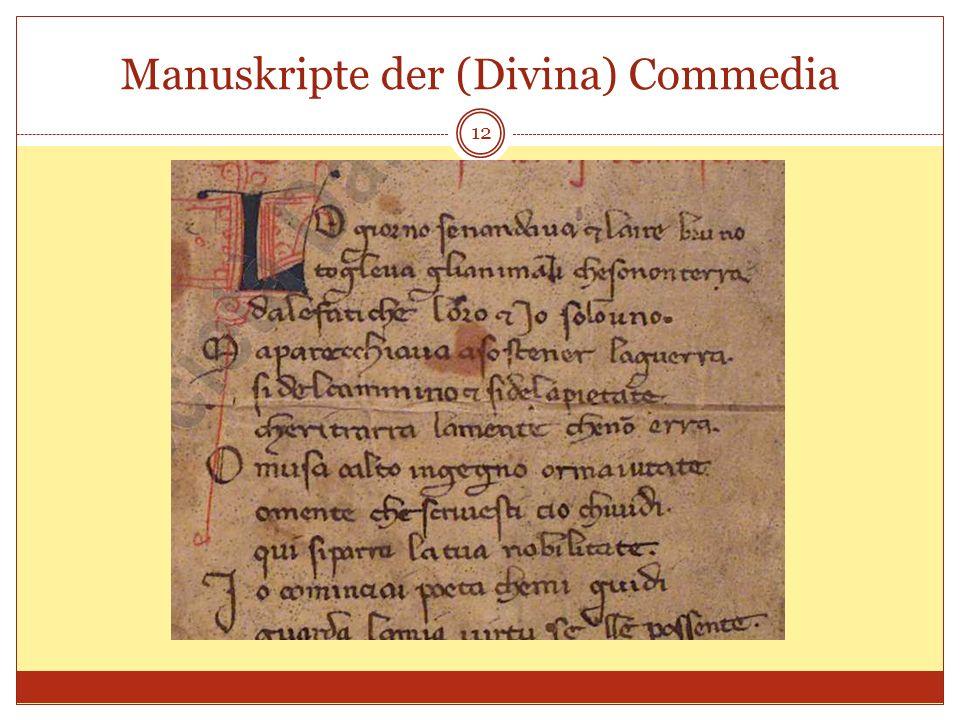Manuskripte der (Divina) Commedia 12