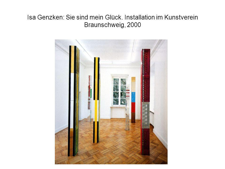 Isa Genzken: Sie sind mein Glück. Installation im Kunstverein Braunschweig, 2000