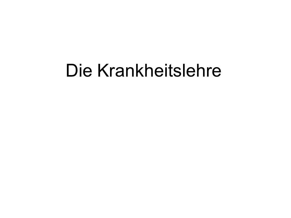 Krankheit Ungleichgewicht der Säfte Heiß: (Galle- und Blutkrankheiten) Kalt: (Wind- und Schleimkrankheiten)