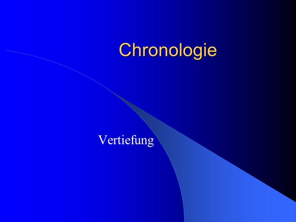 Chronologie Vertiefung