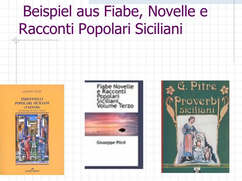 Beispiel aus Fiabe, Novelle e Racconti Popolari Siciliani