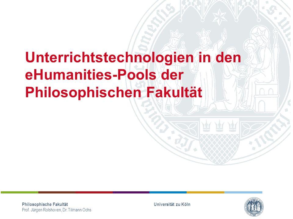 Philosophische Fakultät Prof.Jürgen Rolshoven, Dr.