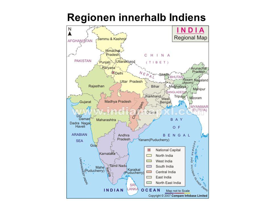 Regionen innerhalb Indiens