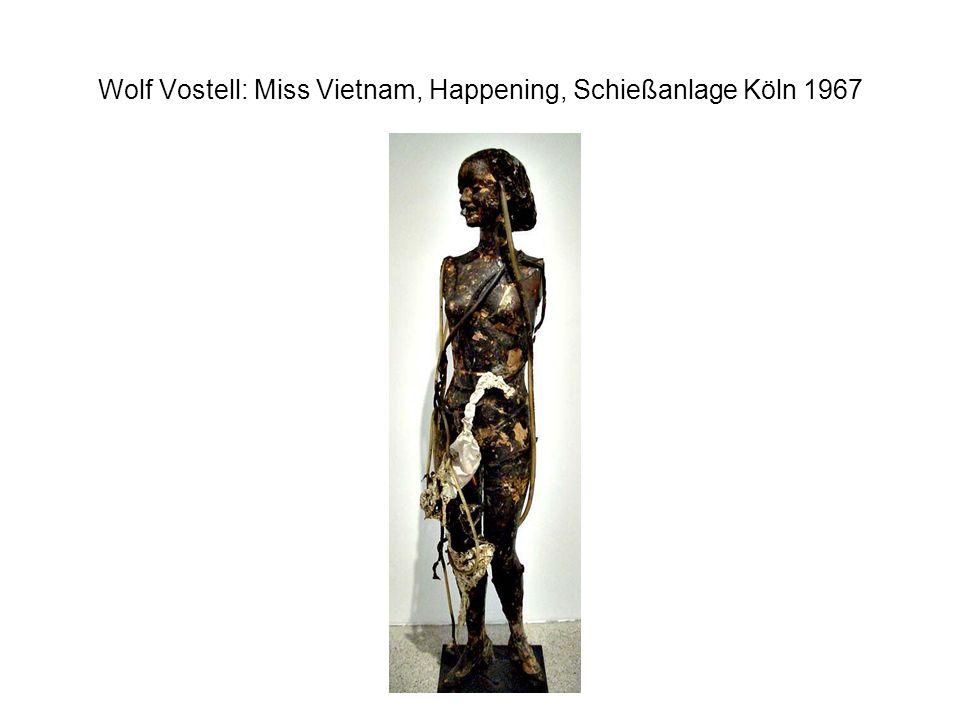 Wolf Vostell: Miss Vietnam, Happening, Schießanlage Köln 1967