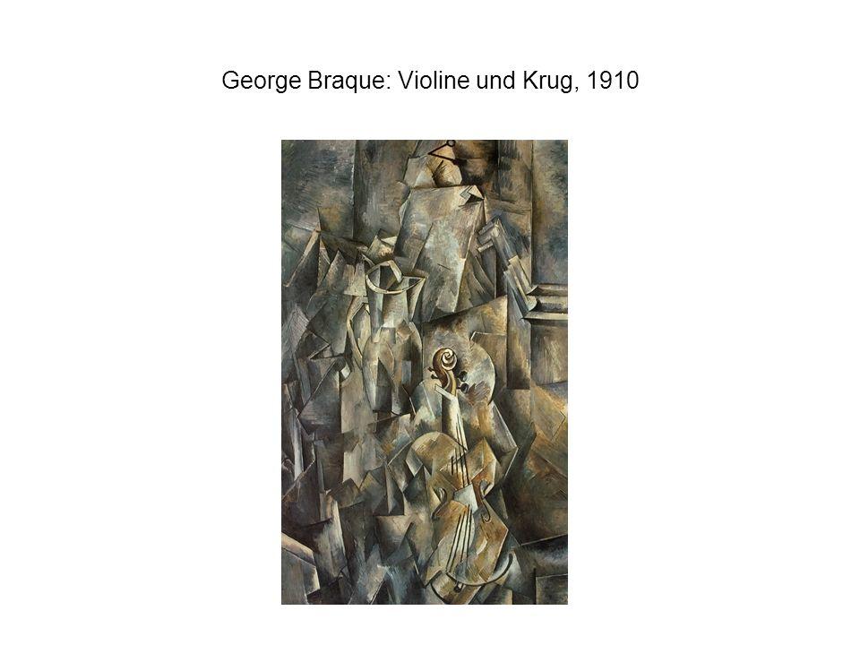 George Braque: Violine und Krug, 1910