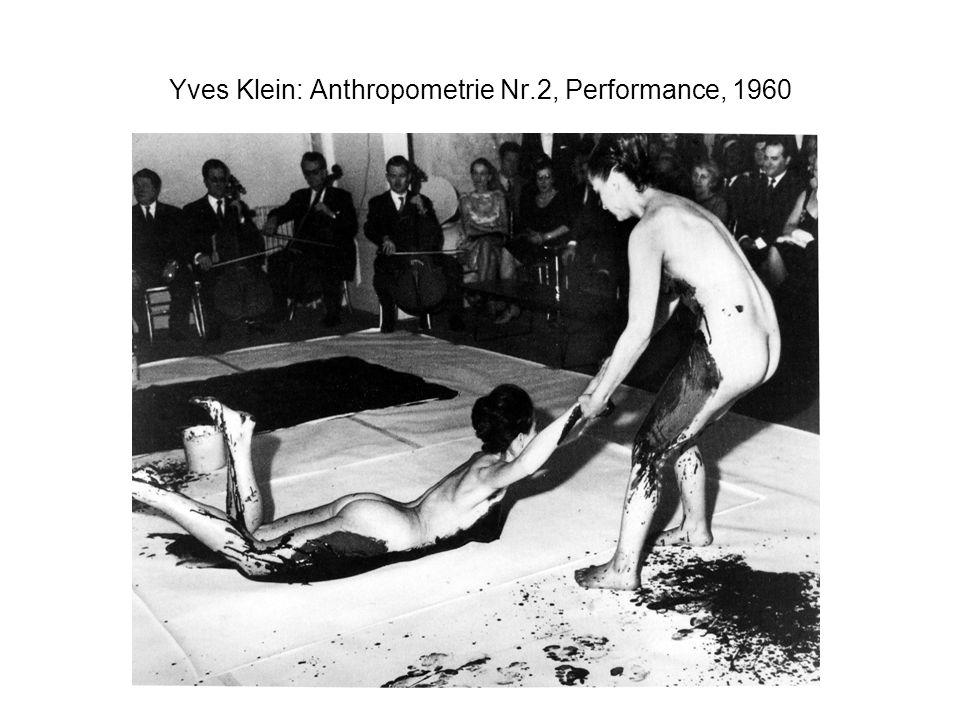 Yves Klein: Anthropometrie Nr.2, Performance, 1960