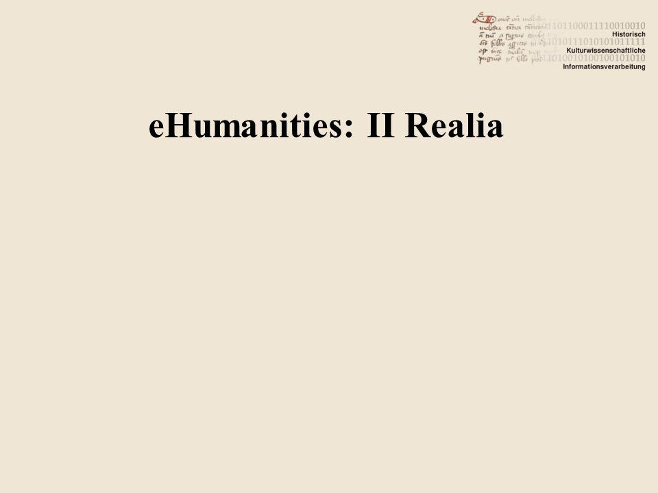eHumanities: II Realia