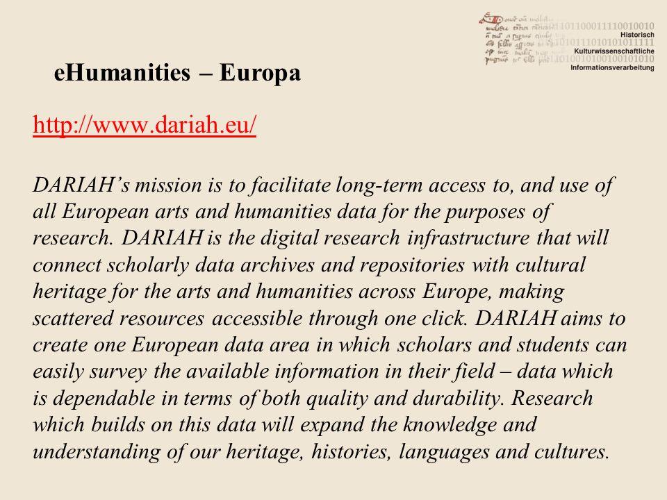Im angelsächsischen Raum derzeit als Bibel: A Companion to Digital Humanities: http://www.digitalhumanities.org/companion/index.html eHumanities – Inhalt