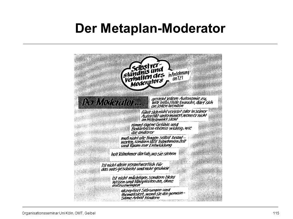 115 Organisationsseminar Uni Köln, OMT, Geibel Der Metaplan-Moderator
