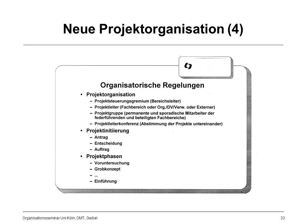 33 Organisationsseminar Uni Köln, OMT, Geibel Neue Projektorganisation (4)