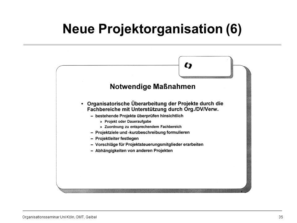 35 Organisationsseminar Uni Köln, OMT, Geibel Neue Projektorganisation (6)