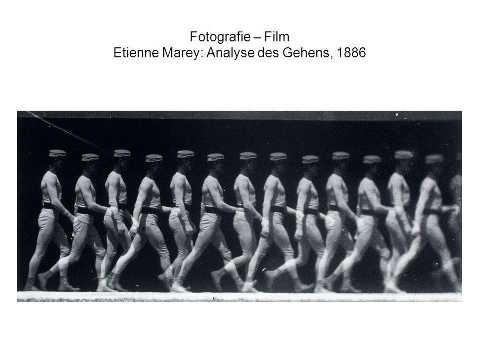 Fotografie – Film Etienne Marey: Analyse des Gehens, 1886