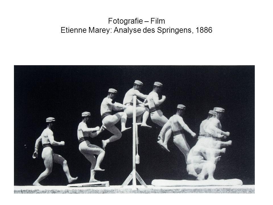 Fotografie – Film Etienne Marey: Analyse des Springens, 1886