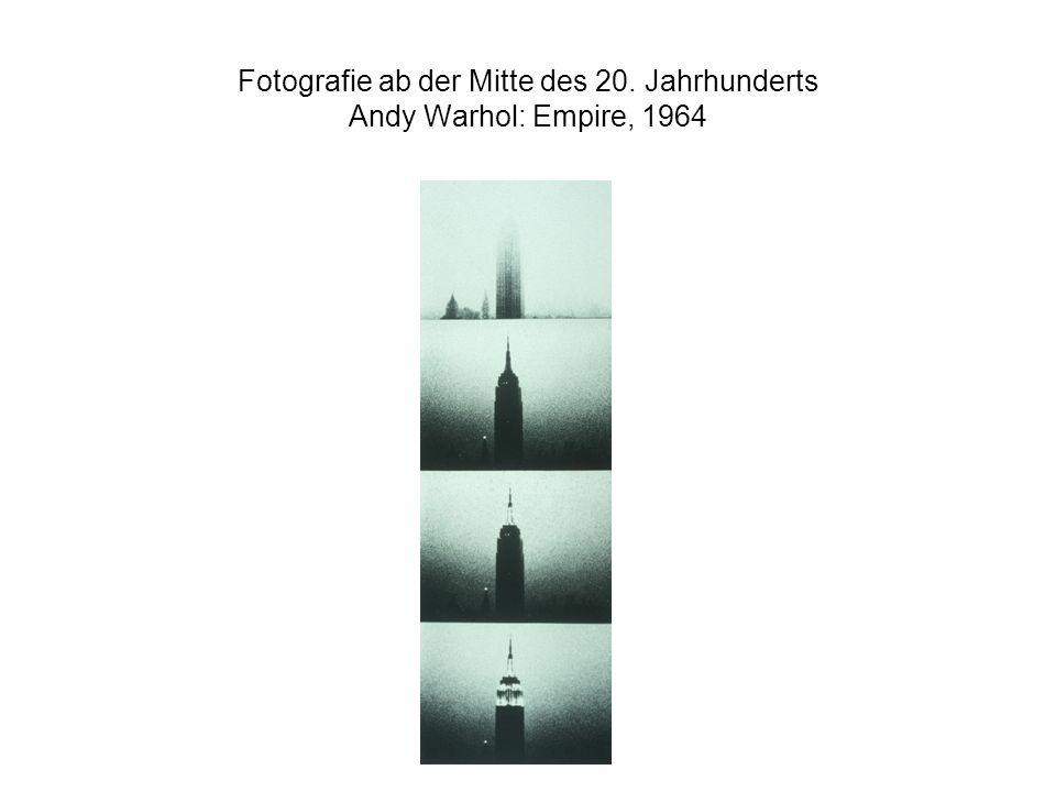 Fotografie ab der Mitte des 20. Jahrhunderts Andy Warhol: Empire, 1964