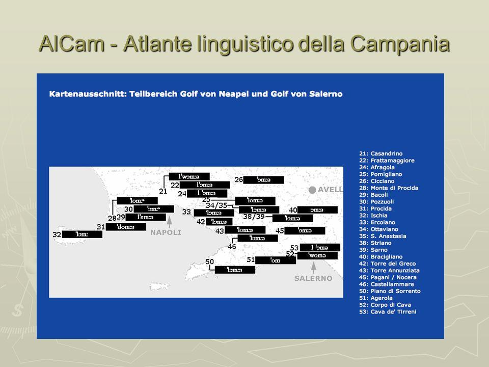 AlCam - Atlante linguistico della Campania