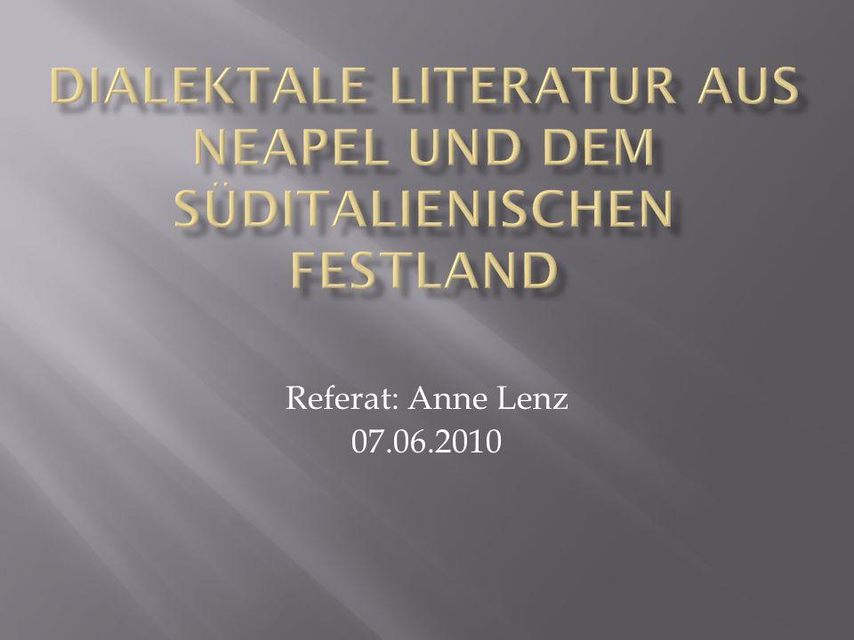 Referat: Anne Lenz 07.06.2010