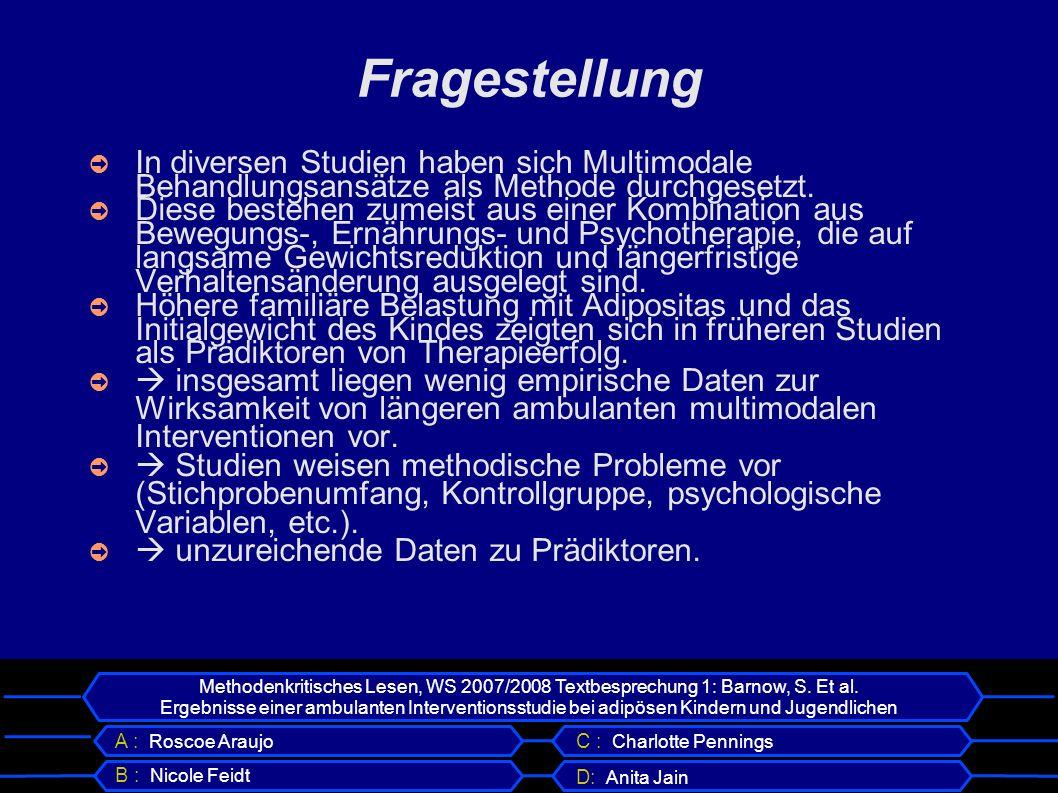 Methodenkritisches Lesen, WS 2007/2008 Textbesprechung 1: Barnow, S.