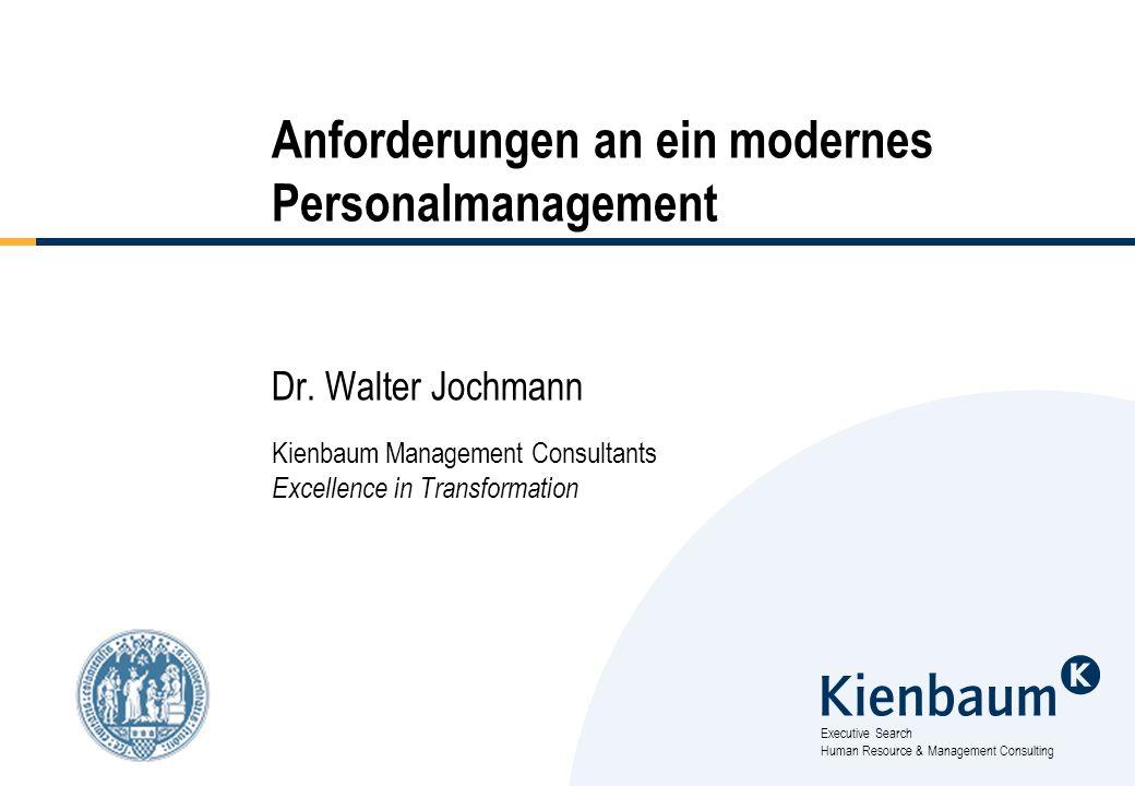 62 Kienbaum Management Consultants GmbH Human Resource Management Ahlefelder Str.