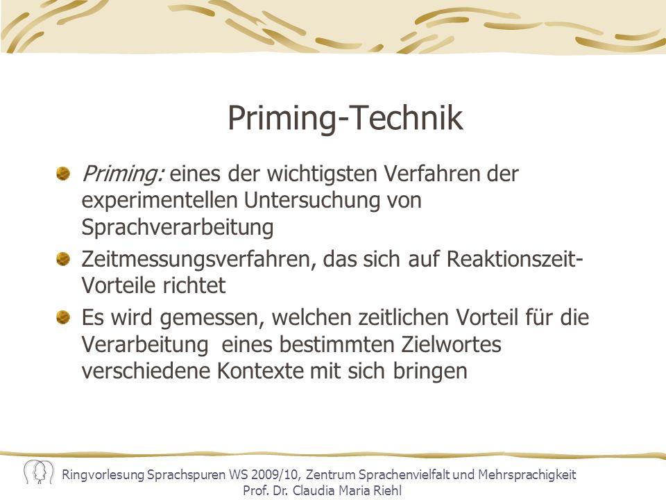 Ringvorlesung Sprachspuren WS 2009/10, Zentrum Sprachenvielfalt und Mehrsprachigkeit Prof.