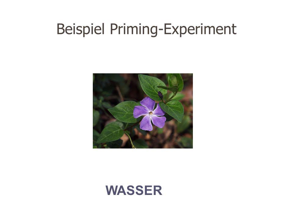Beispiel Priming-Experiment WASSER