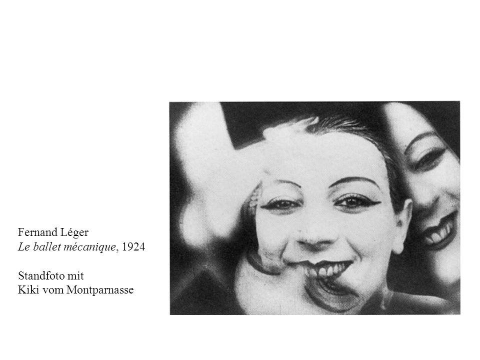 Fernand Léger Le ballet mécanique, 1924 Standfoto mit Kiki vom Montparnasse