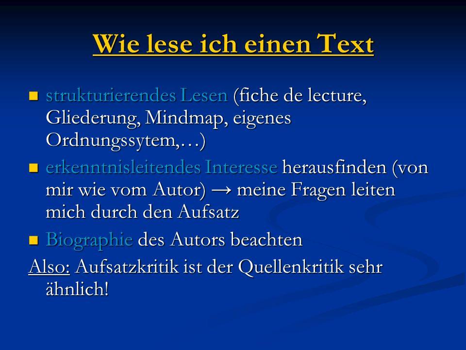 Die 5-Schritte-Lesemethode 1.Text überfliegen 2. Fragen an den Text formulieren 3.