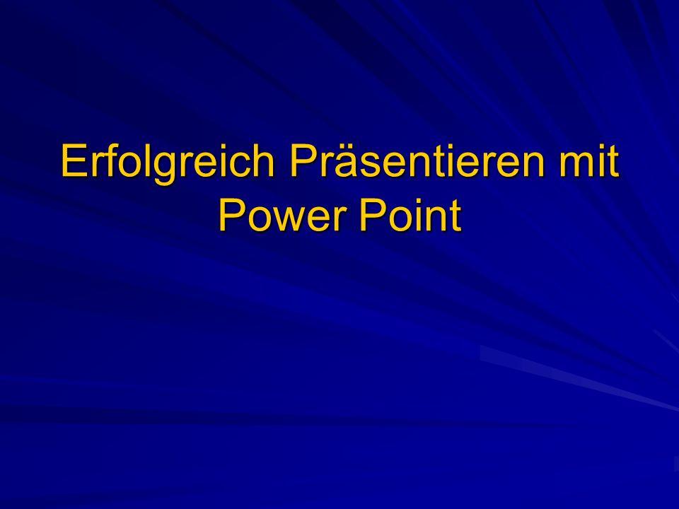 In der Regel sind… … Vorträge, die von einer PowerPoint- Präsentation begleitet werden, interessanter und überzeugender als Reden ohne bildliche Unterstützung.