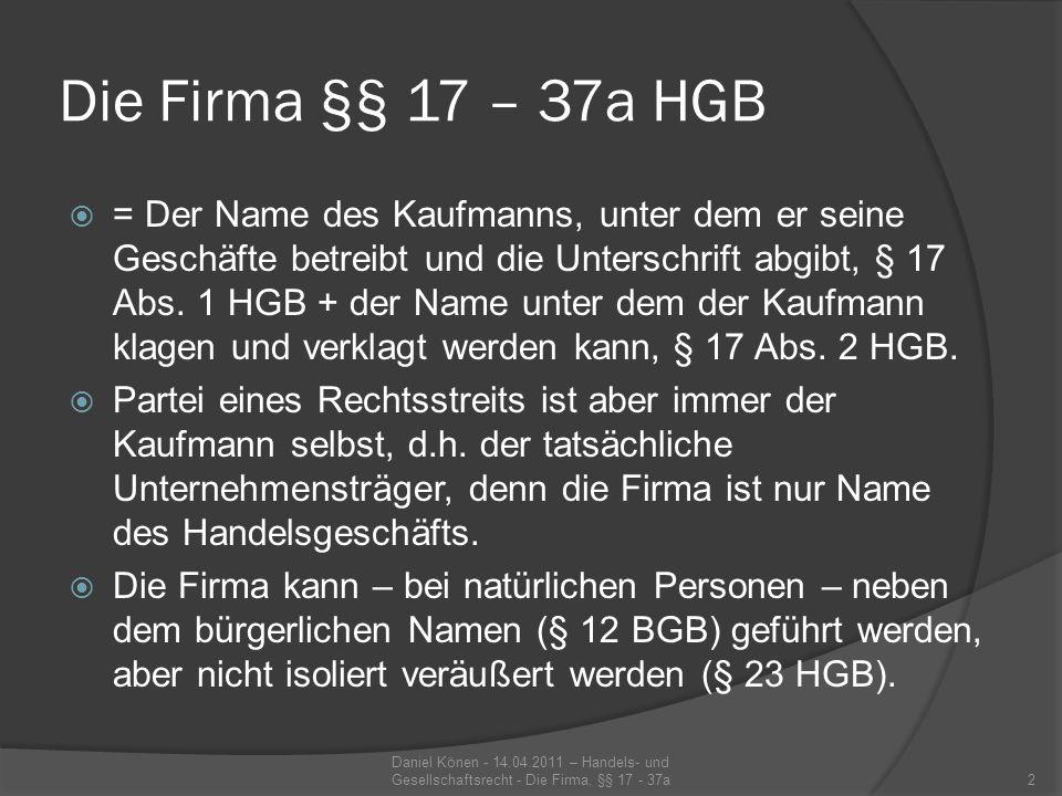 Anmeldepflicht - § 29 HGB Gem.