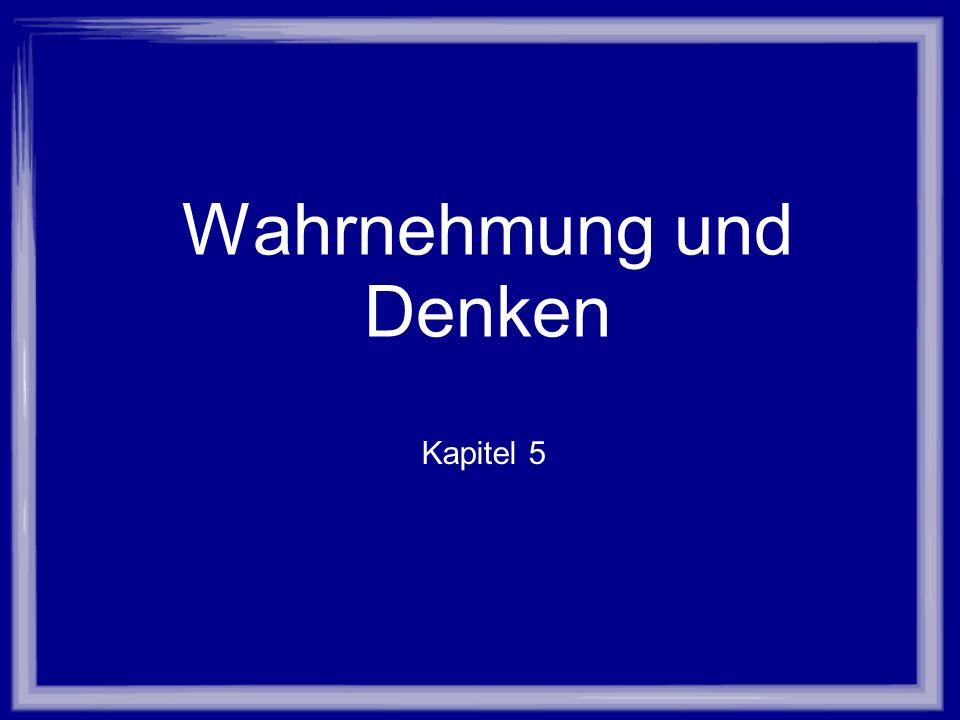 Wahrnehmung und Denken Kapitel 5