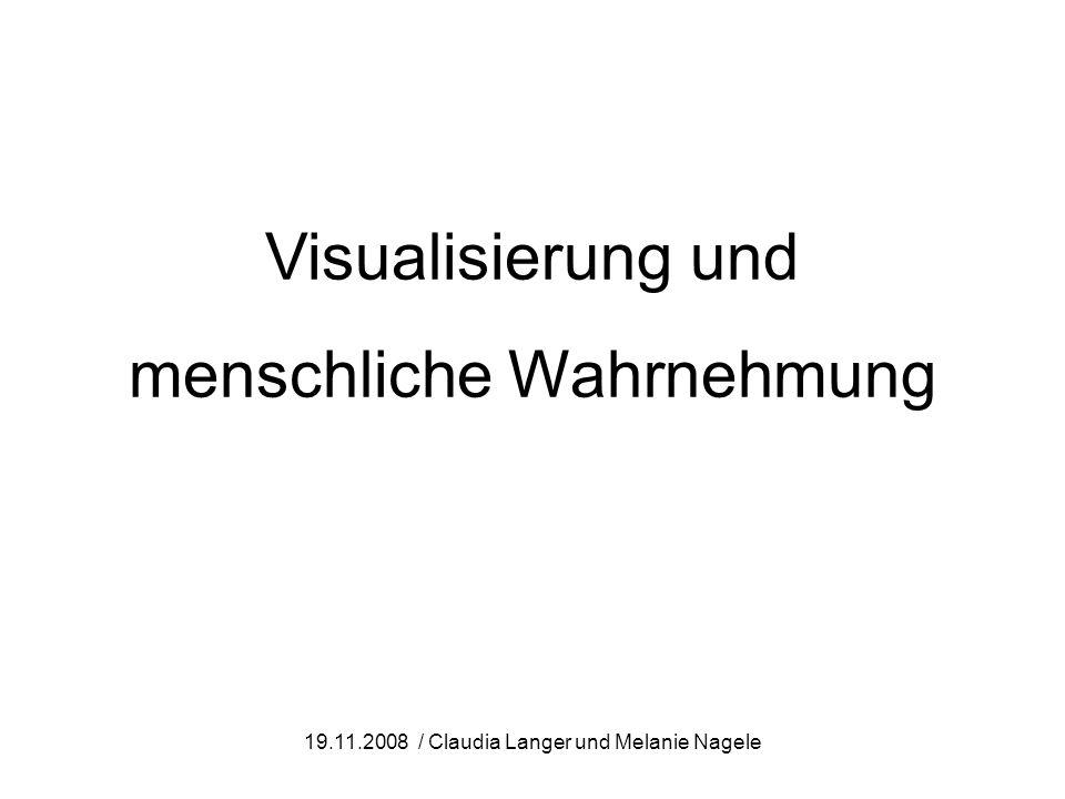 Visualisierung und menschliche Wahrnehmung 19.11.2008 / Claudia Langer und Melanie Nagele