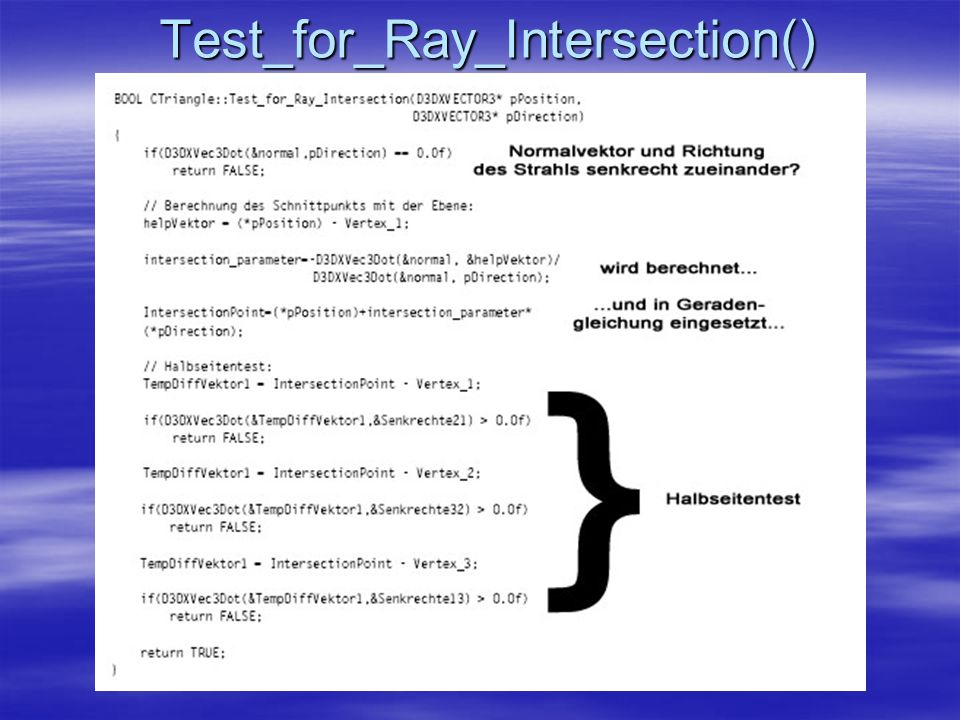 Test_for_Ray_Intersection()