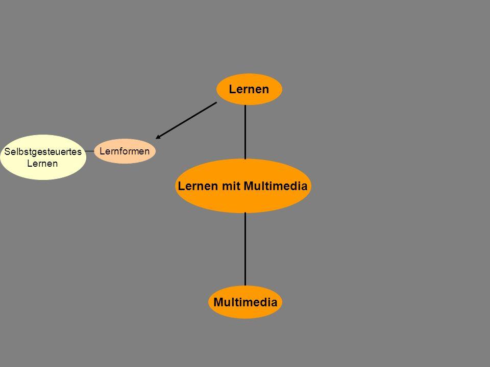 Lernen mit Multimedia Multimedia Lernen Lernformen Selbstgesteuertes Lernen