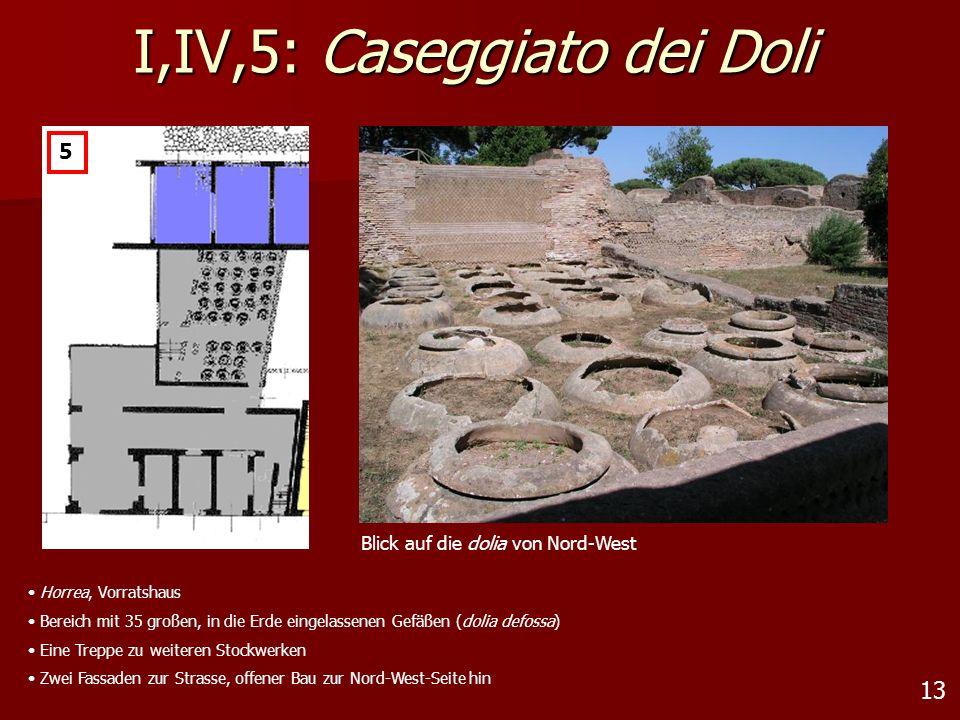 13 I,IV,5: Caseggiato dei Doli 5 Blick auf die dolia von Nord-West Horrea, Vorratshaus Bereich mit 35 großen, in die Erde eingelassenen Gefäßen (dolia
