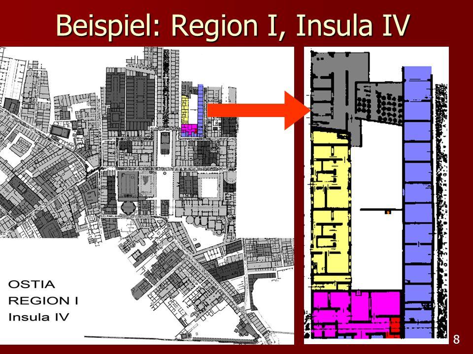 8 Beispiel: Region I, Insula IV