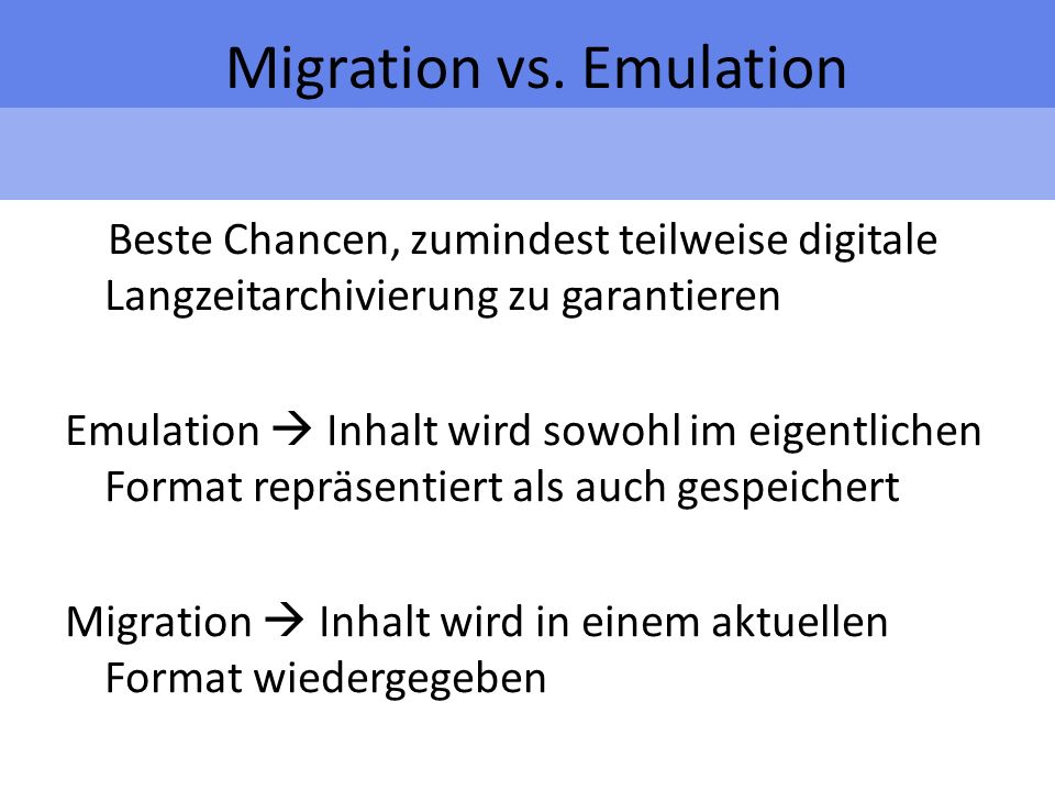 Migration vs.