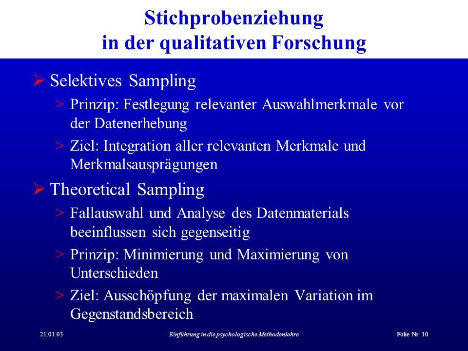 21.01.03Einführung in die psychologische MethodenlehreFolie Nr.