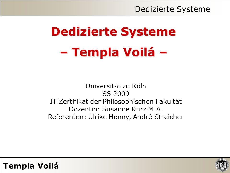 Dedizierte Systeme Templa Voilá 7.2.
