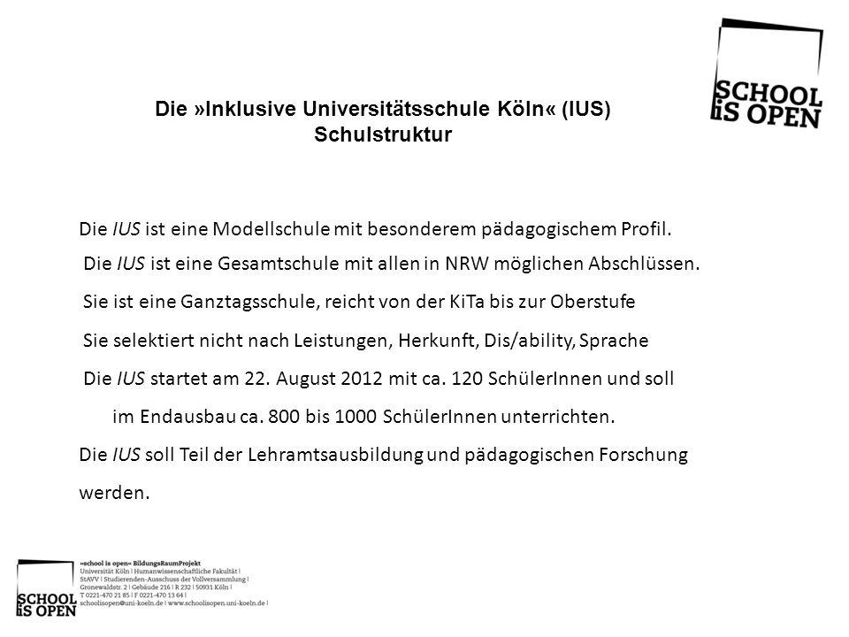 Die IUS ist eine Modellschule mit besonderem pädagogischem Profil. Die IUS ist eine Gesamtschule mit allen in NRW möglichen Abschlüssen. Sie ist eine