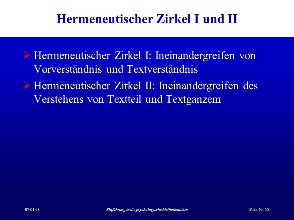 07.01.03Einführung in die psychologische MethodenlehreFolie Nr.