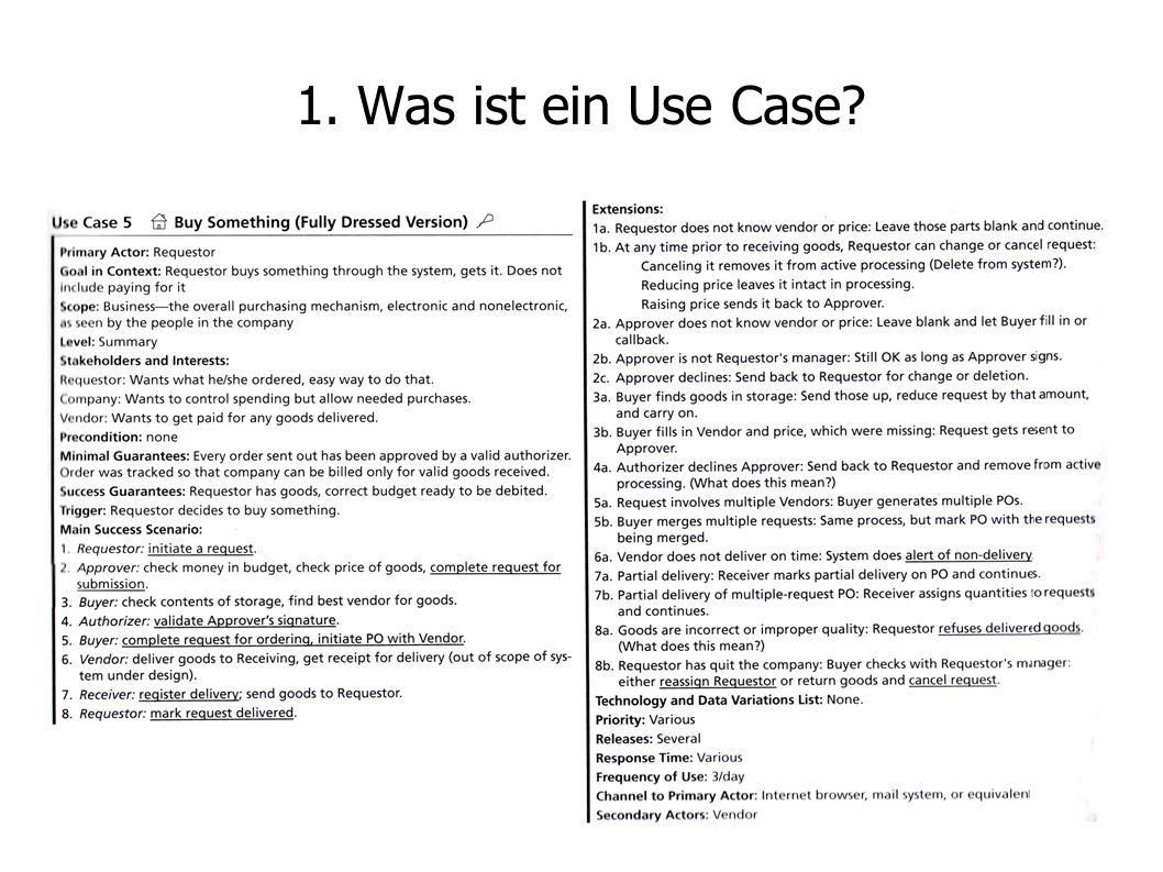 1. Was ist ein Use Case?