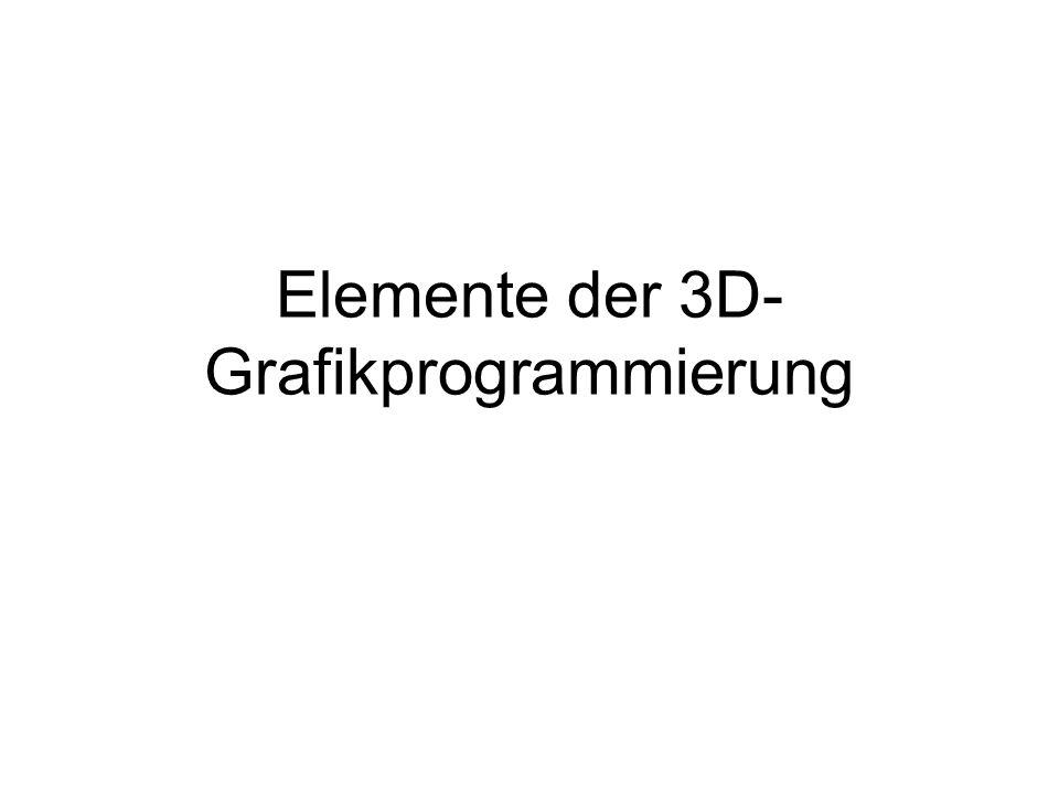 Elemente der 3D- Grafikprogrammierung