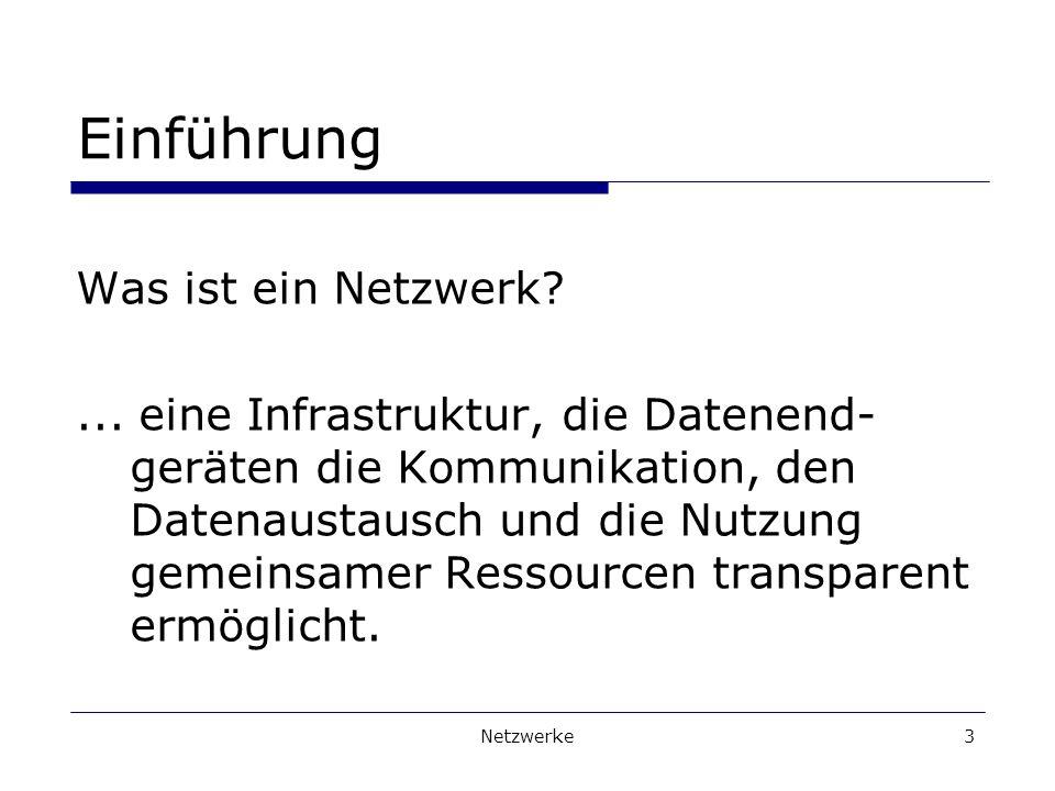 Netzwerke3 Einführung Was ist ein Netzwerk?...