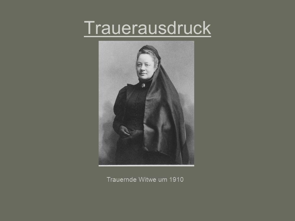 Trauerausdruck Trauernde Witwe um 1910