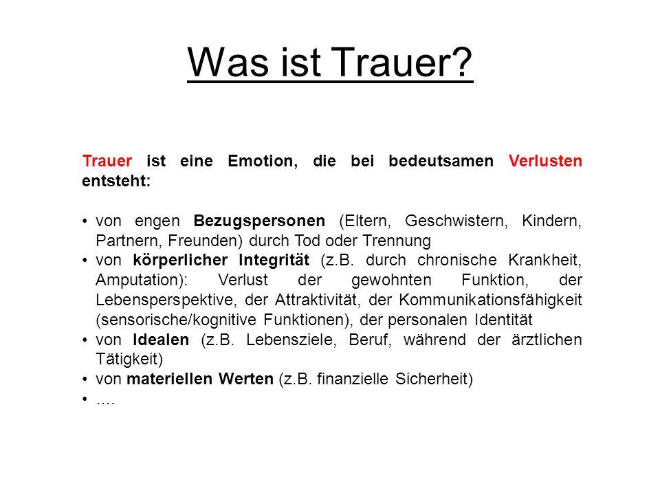 Trauer und Bindungsprozesse 1.Phänomenologie: Was ist Trauer.